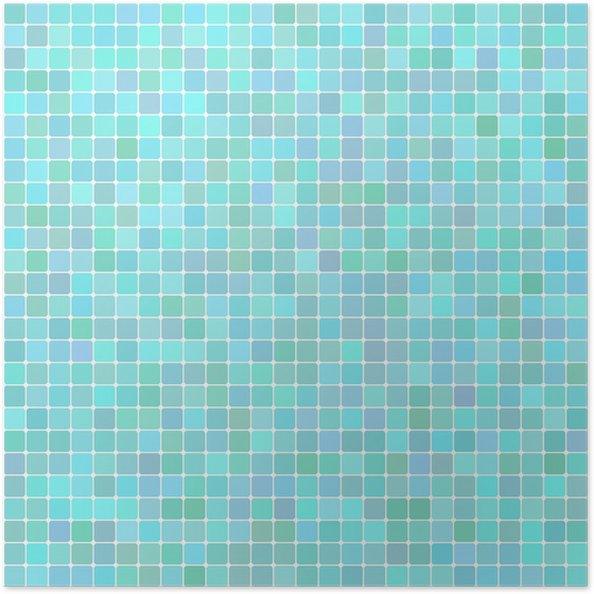Poster Vecteur de fond de turquoise lumineux carré de mosaïque ...