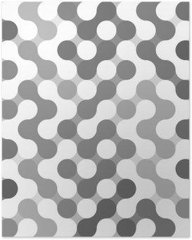 Poster Vector geometrisch patroon van cirkels.