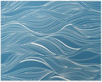 Poster Vector naadloze abstracte patroon, golven