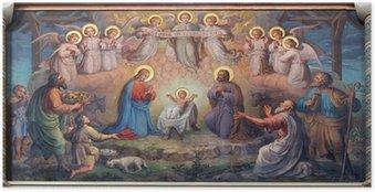 Poster Vienne - fresque de scène de la Nativité à l'église des Carmes