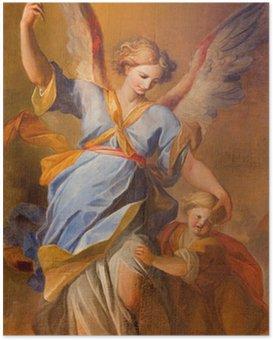 Poster Vienne - la douleur d'ange gardien à l'église des Jésuites baroque