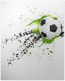 Poster Vliegende voetbal