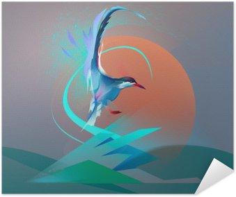 Poster Vogel zeemeeuw stern
