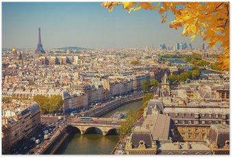 Poster Vue aérienne de Paris