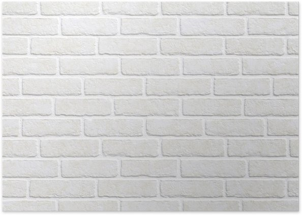 white brick wall background poster � pixers174 � we live to