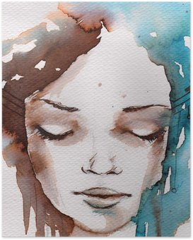 Winter, cold portrait Poster