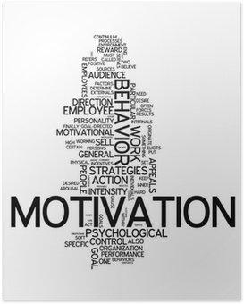"""Poster Word Cloud """"Motivatie"""""""