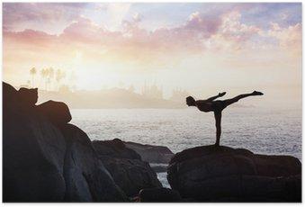 Poster Yoga sur les pierres