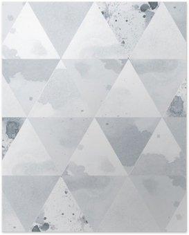 Poster Zwart-wit Patroon