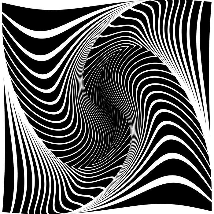 Fototapeta Vinylowa Projekt iluzję ruchu monochromatyczne tło wir -