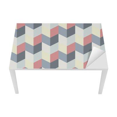 Proteção para Mesa e Secretária abstract retro geometric pattern