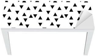 Proteção para Mesa e Secretária Preto e branco moderno fashion triângulo padrão aleatório geométrico abstrato