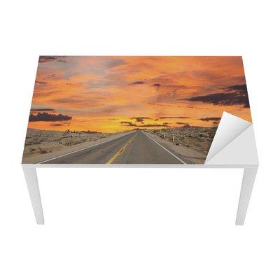Proteção para Mesa e Secretária Route 66 Pavement Sign Sunrise Mojave Desert