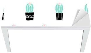Proteção para Mesa e Secretária Teste padrão tirado mão Cactus