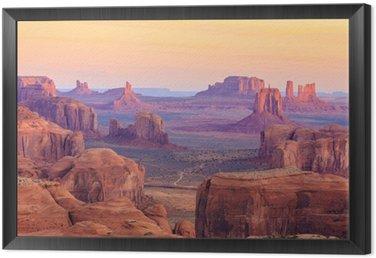 Quadro in Cornice Alba in Hunts Mesa in Monument Valley, Arizona, Stati Uniti d'America