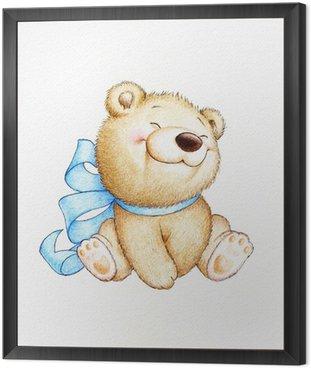 Quadro in Cornice Carino Teddy Bear
