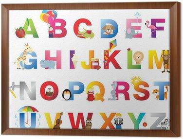 Quadro in Cornice Completa bambini alfabeto
