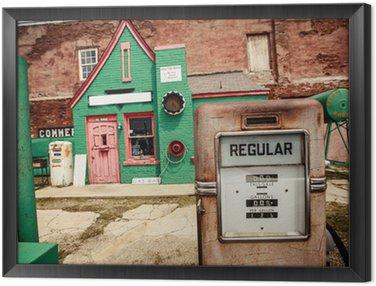 Quadro in Cornice Distributore di benzina abbandonato sulla Route 66