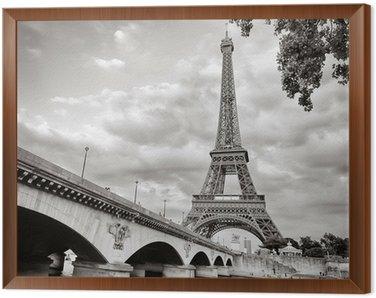 Quadro in Cornice Eiffel vista torre dal formato quadrato Senna