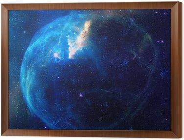 Quadro in Cornice Galaxy illustrazione, sfondo spazio con le stelle, nebulose, cosmo nuvole