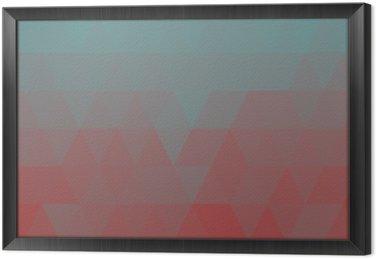 Quadro in Cornice Geometrica blu bassa sfondo poli