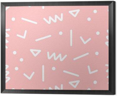 Quadro in Cornice Seamless pattern geometrici