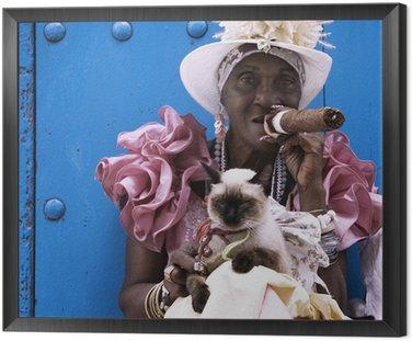 Quadro in Cornice Sigaro cubano signora