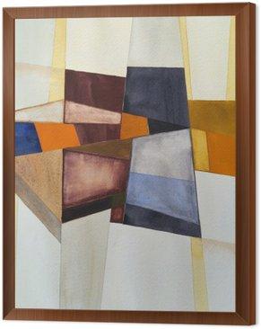 Quadro in Cornice Un acquerello astratto modernista