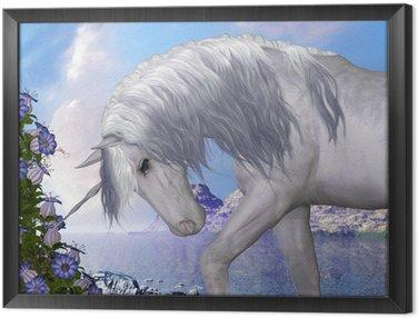 Quadro in Cornice Unicorn e Blue Bell Fiori