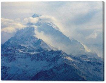 Quadro su Tela Alba in montagna