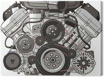 Quadro su Tela Anteriore del motore auto