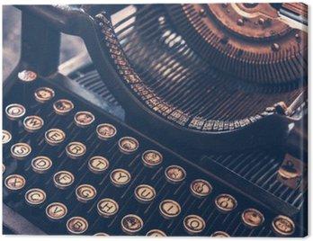 Quadro su Tela Antica Macchina da scrivere
