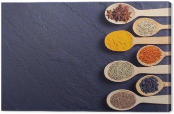 Quadro su Tela Assortimento di spezie indiane