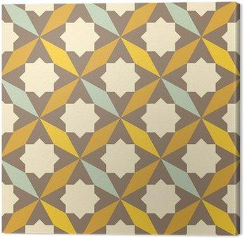 Quadro su Tela Astratta retrò pattern geometrico