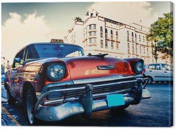 Quadro su Tela Automobili cuban vecchi
