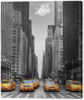 Quadro su Tela Avenue con i taxi a New York.