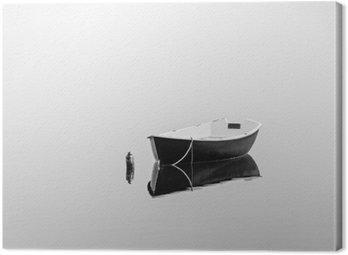 Quadro su Tela Barca a remi nero