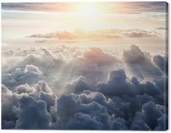 Quadro su Tela Beautiful blue sky background