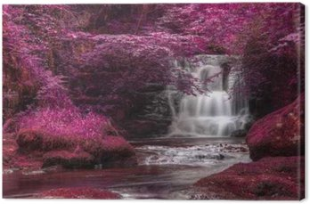 Quadro su Tela Bella alternativa colorato paesaggio di cascata surreale