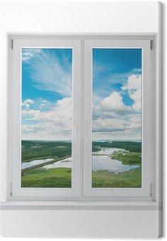 Quadri su tela vista dalla finestra pixers viviamo - Quadro finestra ...