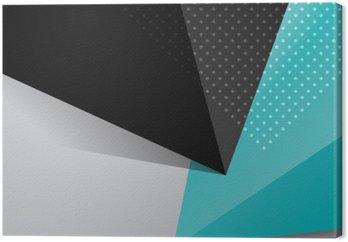 Quadro su Tela Blu e nero di sfondo disegno astratto