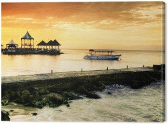 Quadro su Tela Caribbean Sunset
