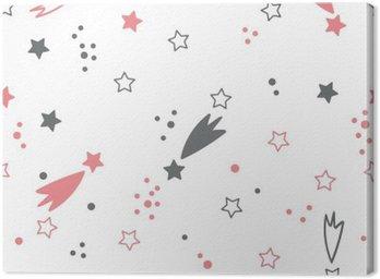 Quadro su Tela Carino seamless con le stelle. sfondo spazio