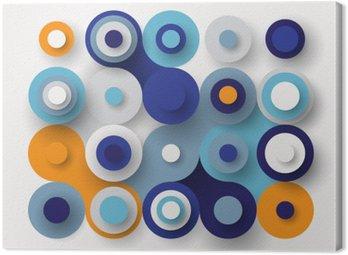 Quadro su Tela Circles sfondo piatto