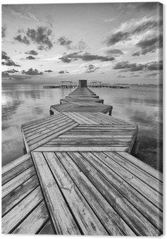 Quadro su Tela Dock Zig Zag in bianco e nero