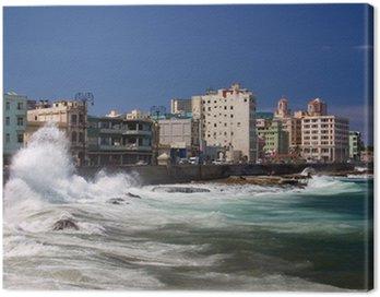Quadro su Tela El Malecón, Havana