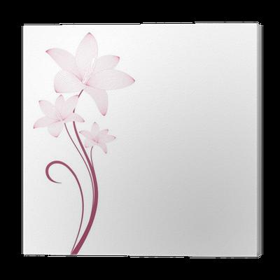 Quadro su tela fiori stilizzati pixers viviamo per il for Quadri fiori stilizzati