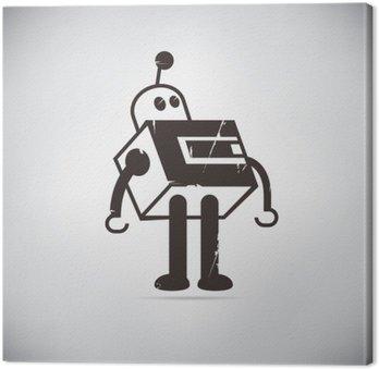 Quadro su Tela Fumetto retrò robot