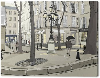 Quadro su Tela Furstemberg piazza a Parigi