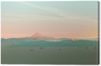 Quadro su Tela Geometrico Paesaggio di montagna con gradiente Sky